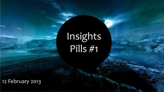 Insights                    Pills #112 February 2013