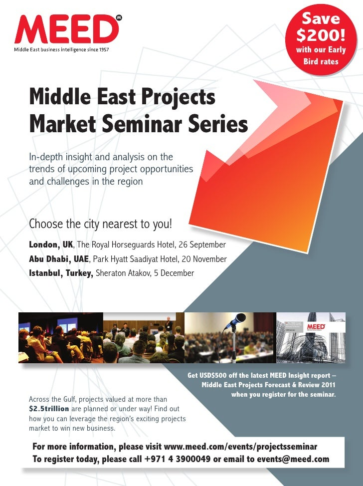 MEED Insight Projects Market Seminar