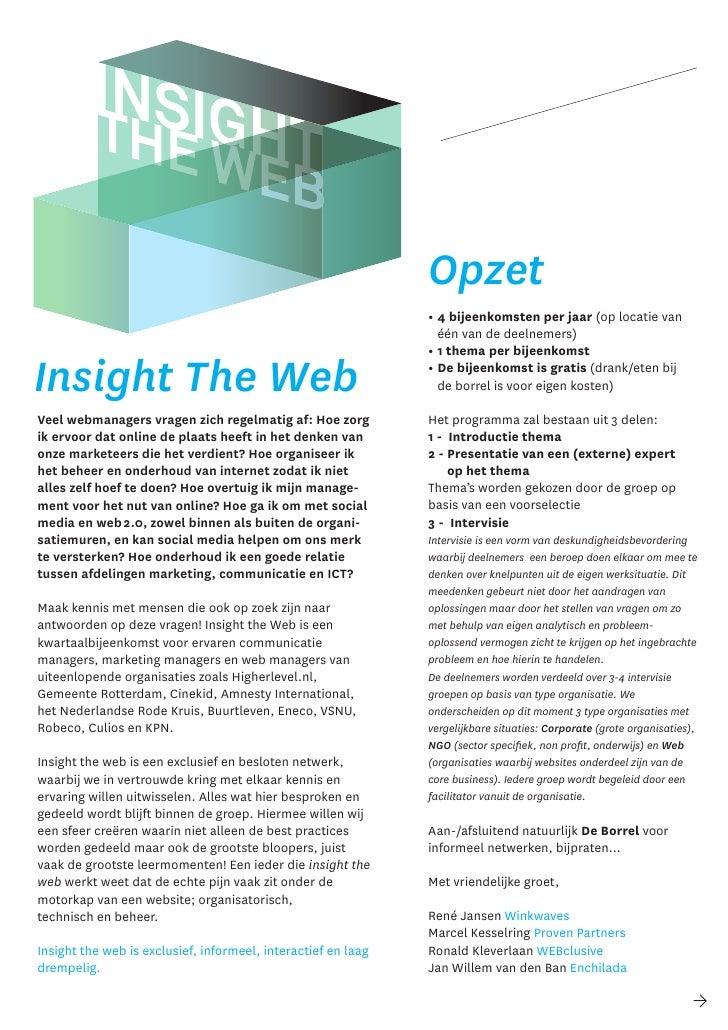 Insight the web  netwerk web professionals