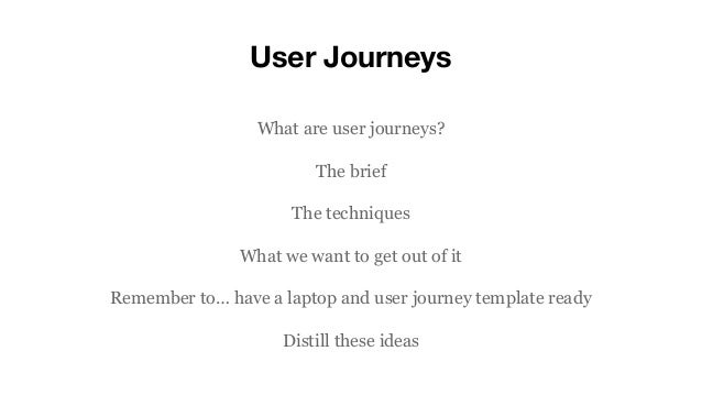 And User Journey Template