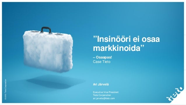 Marketing transformation in an engineering company (Finnish)