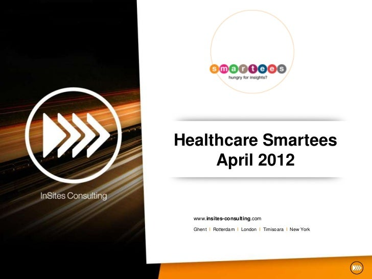 InSites Consulting Health Smartees Ghent April 25 2012