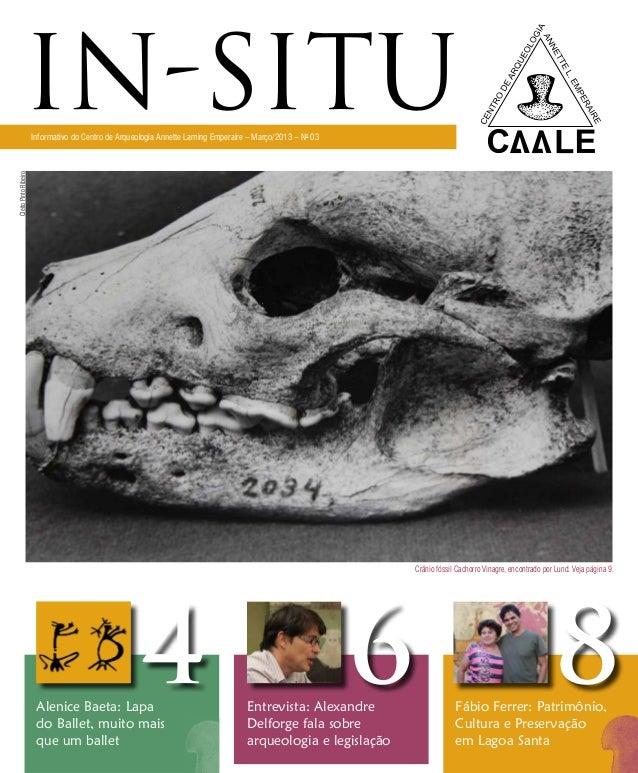 in-situ     Informativo do Centro de Arqueologia Annette Laming Emperaire – Março/2013 – No 03Cleito Pinto Ribeiro        ...