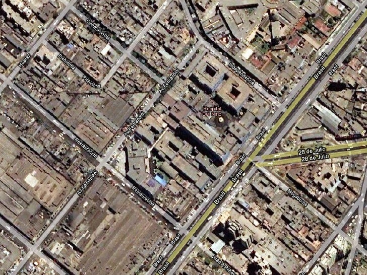 Hospital del Niño deesde el satelite