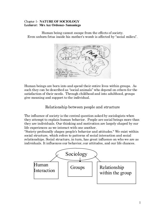 Insocio lecture 1 nature of sociology