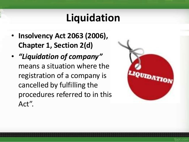 Corporate Dissolution and Insolvency?