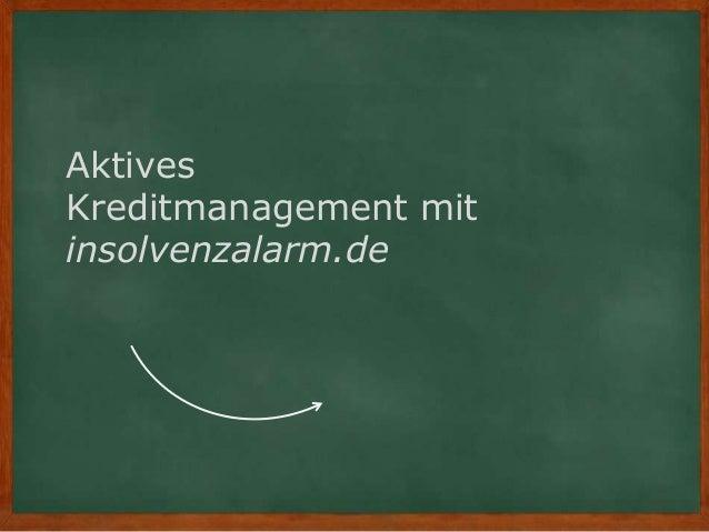 Aktives Kreditmanagement mit insolvenzalarm.de