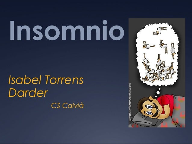 Insomnio Isabel Torrens Darder CS Calvià