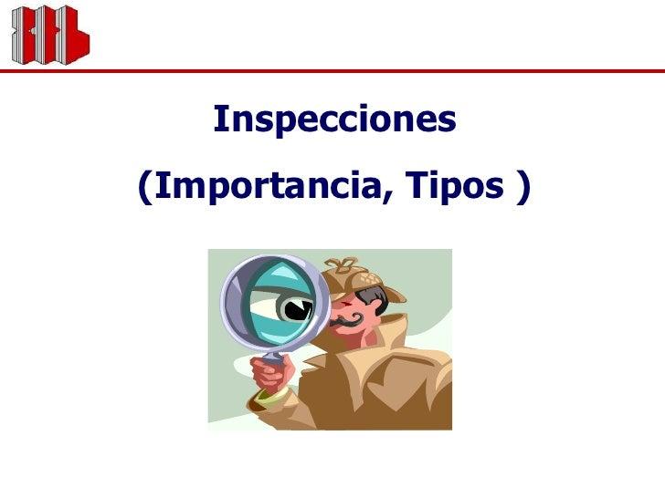 Inspecciones<br />(Importancia, Tipos )<br />