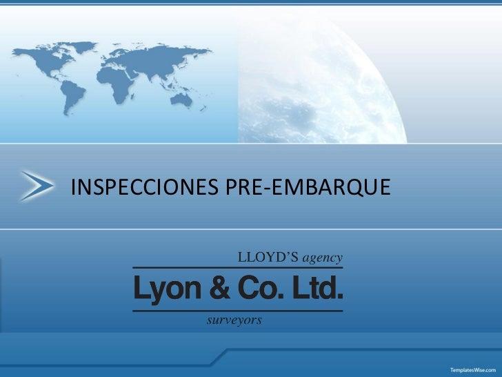INSPECCIONES PRE-EMBARQUE