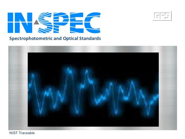 In-spec.com Spectrophotometric Standards