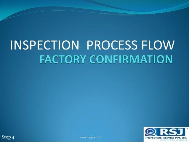 INSPECTION PROCESS FLOW Step 4 www.rsjqa.com