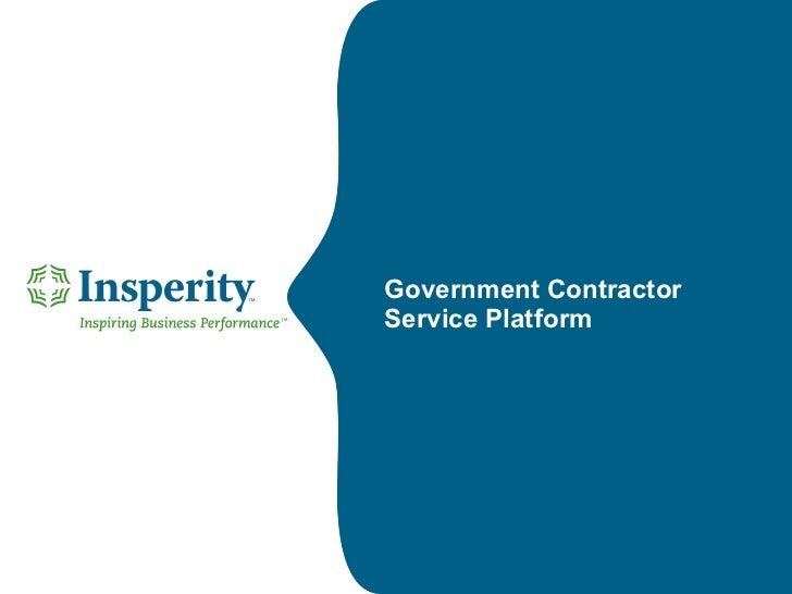 Government Contractor  Service Platform