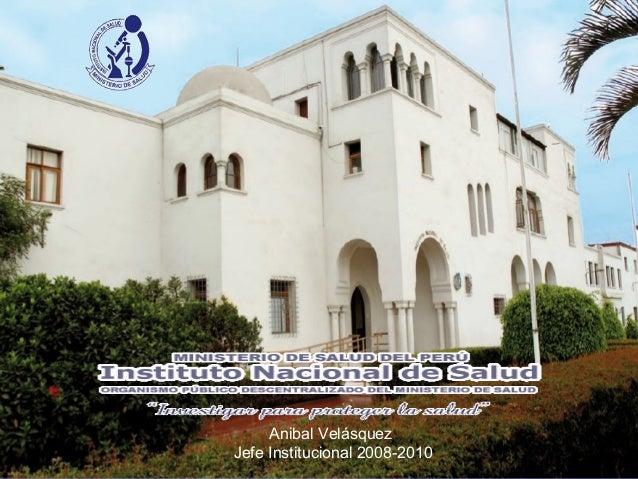 El Instituto Nacional de Salud de Perú 2010
