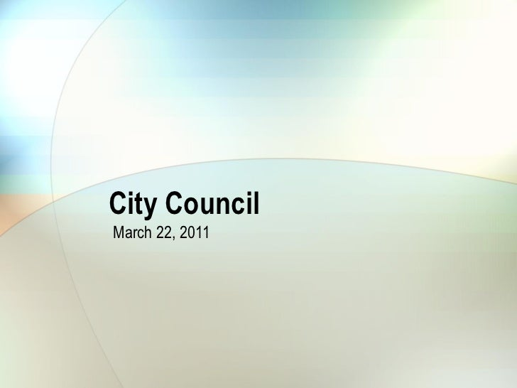 City Council March 22 - operation finally home