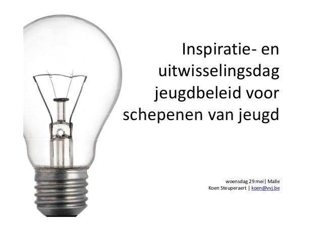 Inspiratie- en uitwisseldag jeugdbeleid voor schepenen van jeugd 2013