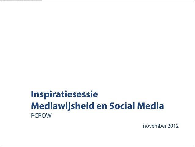 Inspiratiesessie mediawijsheid en social media pcpow
