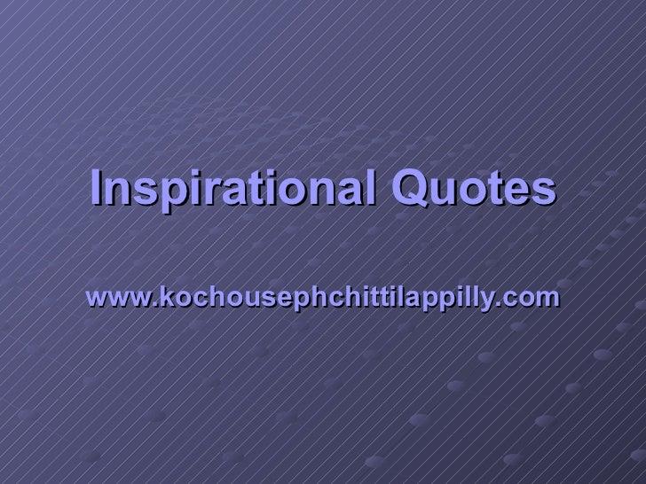inspirational quotes kochouseph chittilappilly