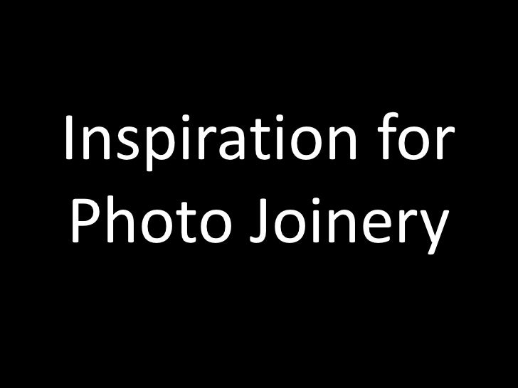 Inspiration for Photo Joinery<br />
