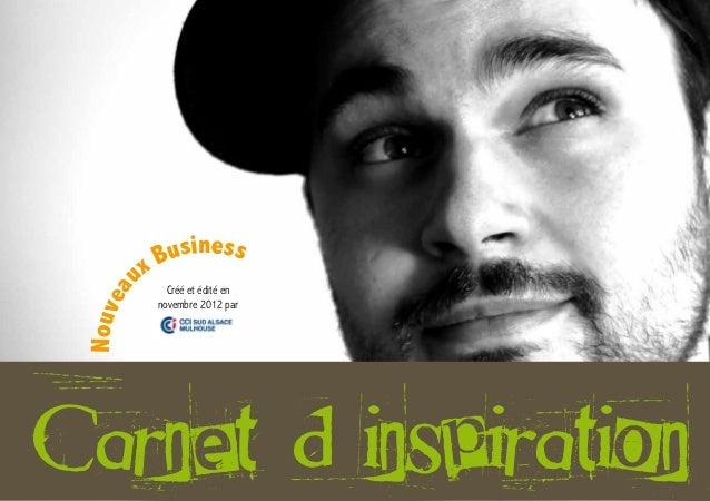 x Business          u      Créé et édité en      a Nouve               novembre 2012 parCarnet d'inspiration              ...