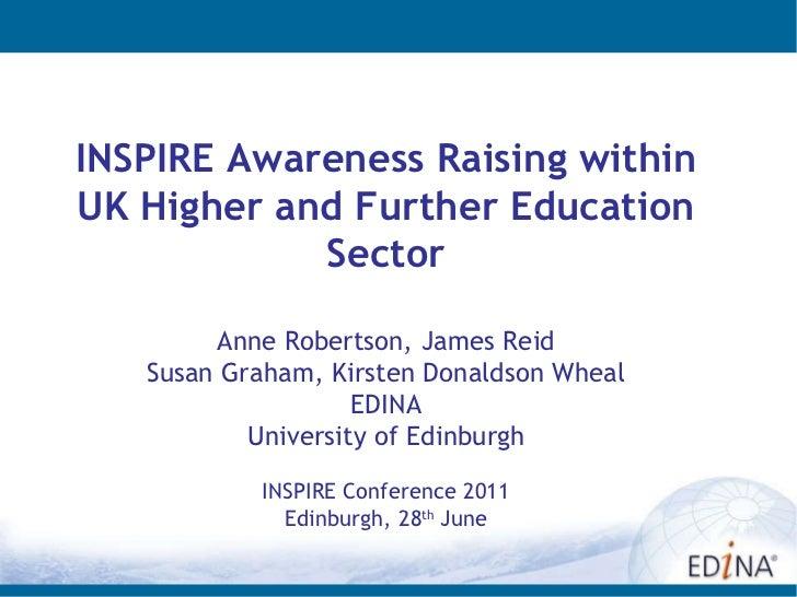 INSPIRE Awareness Raising within UK HEFE