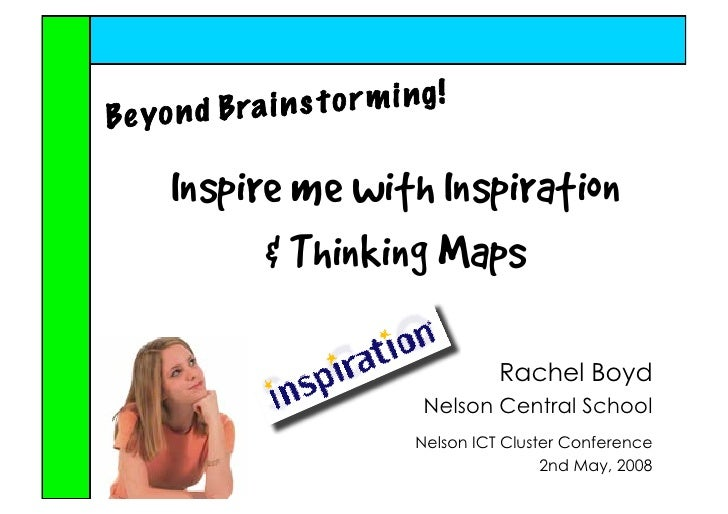 Inspire me with Inspiration        Thinking Maps                          Rachel Boyd                Nelson Central School...
