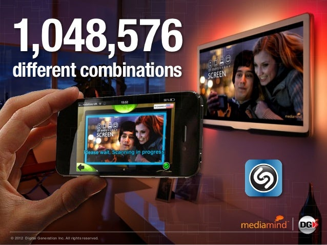 1,048,576different combinations© 2012 Digital Generation Inc. All rights reserved.
