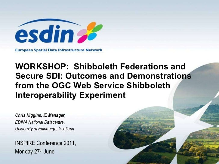 WORKSHOP:  Shibboleth Federations and Secure SDI: Outcomes and Demonstrations from the OGC Web Service Shibboleth Interope...