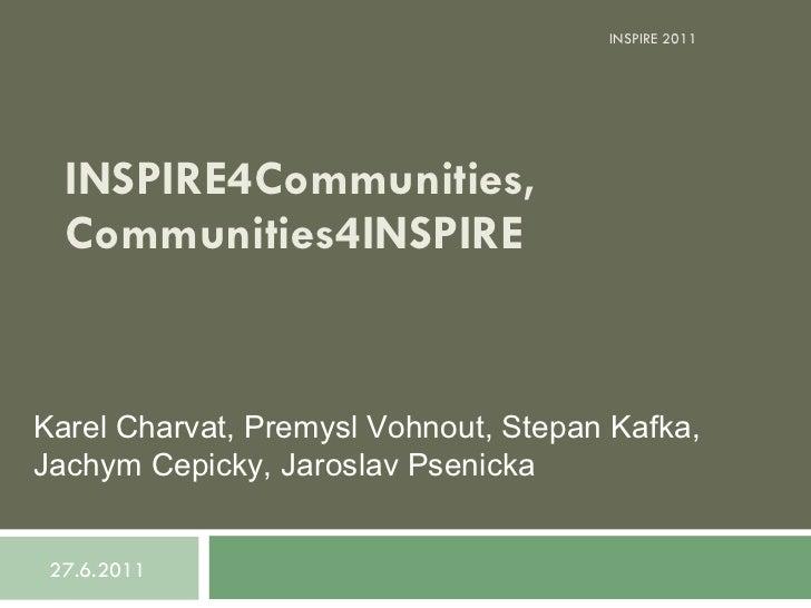Inspire4 communities, communities4inspire final
