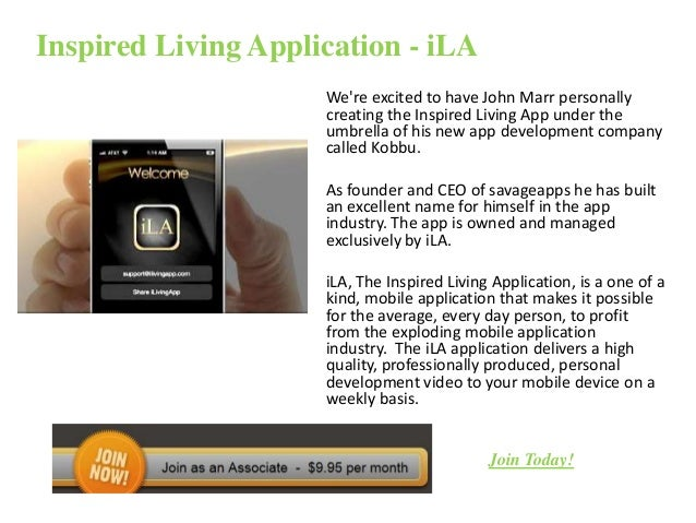 Inspired living application   i la