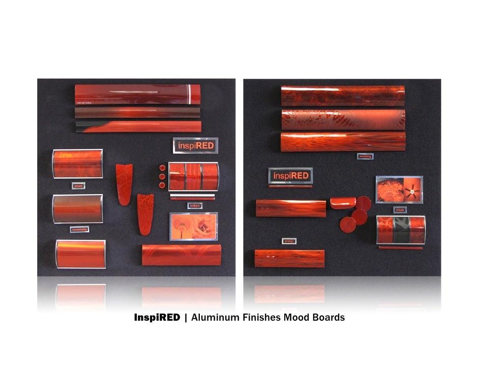 InspiRED | Aluminum Finishes Mood Boards