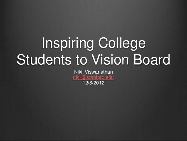 inspiring college students to vision board