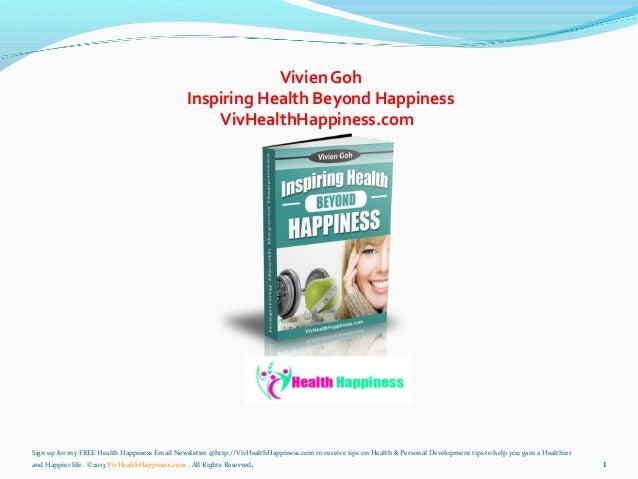 Inspiring health beyond happiness 2311