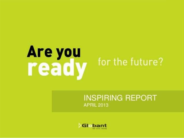 INSPIRING REPORTAPRIL 2013