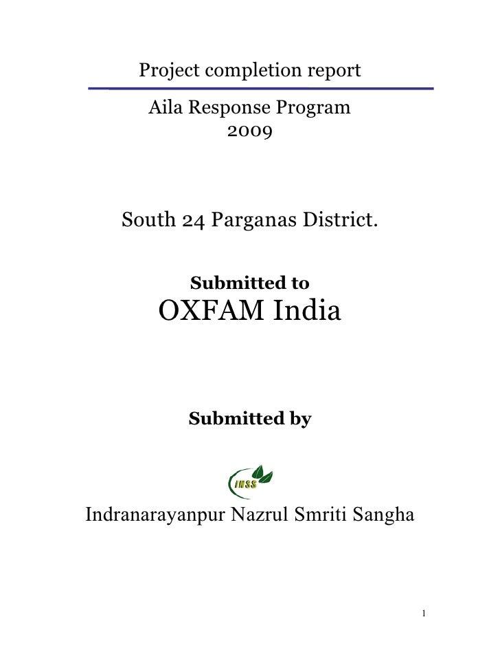 Indranarayanpur Nazrul Smriti sangha- Oxfam Report
