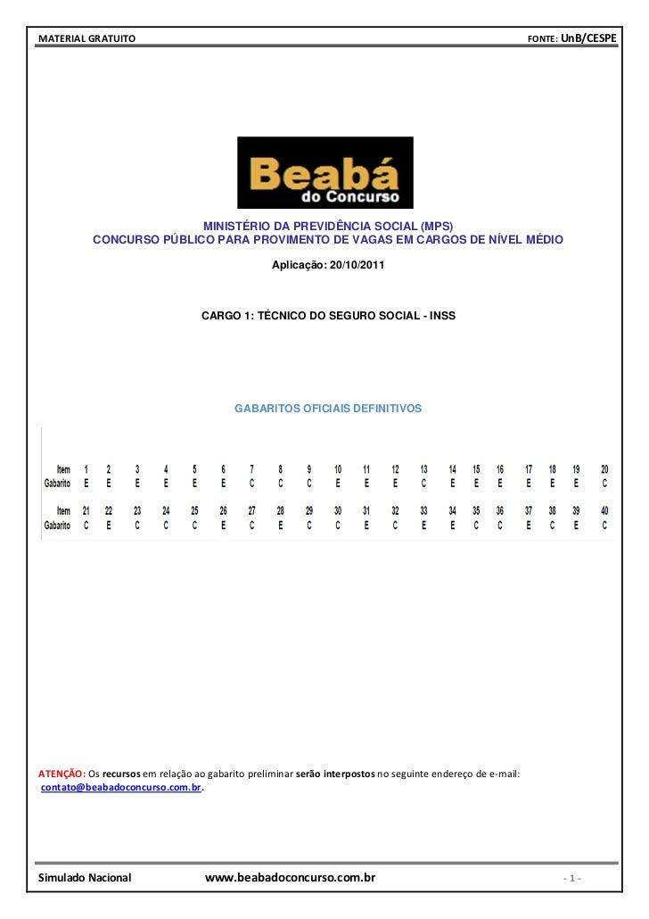 MATERIAL GRATUITO                                                                                          FONTE: UnB/CESP...