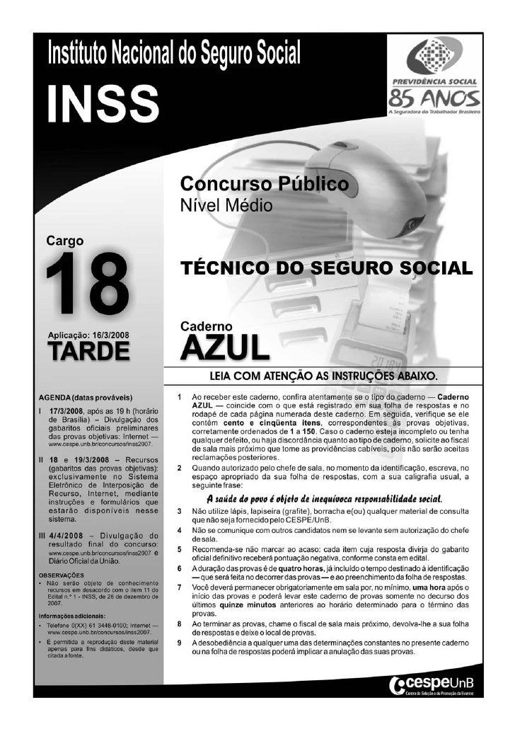 Inss prova cargo_nm_18_tecnico