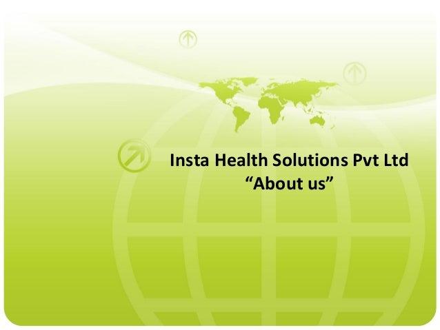 Presentation on Insta Health Solutions