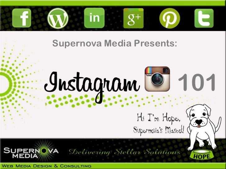 Supernova Media Presents:                        101