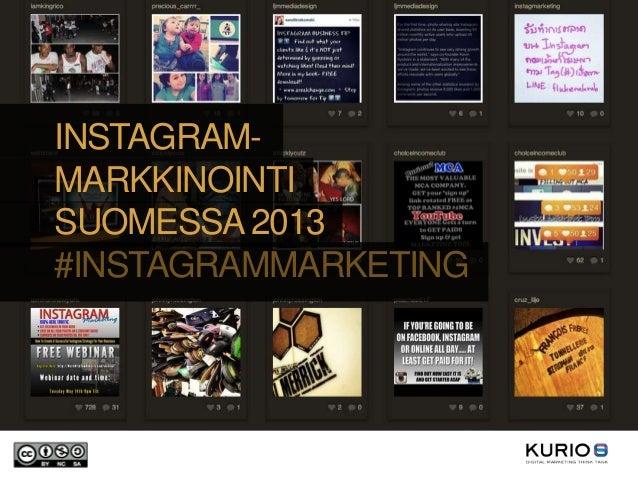 Instagram-markkinointi Suomessa 2013