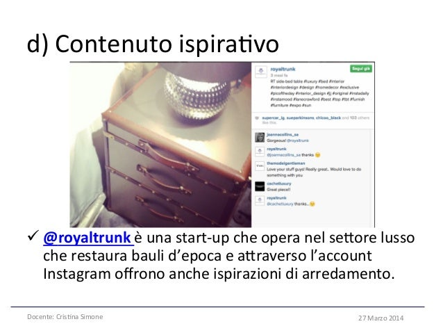 Instagram for business. Come funziona. Esempi e case history.
