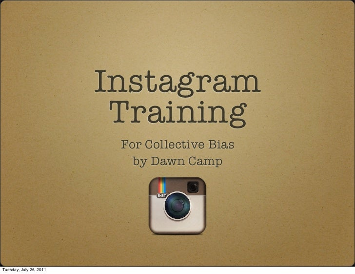 Instagram                          Training                          For Collective Bias                            by Daw...