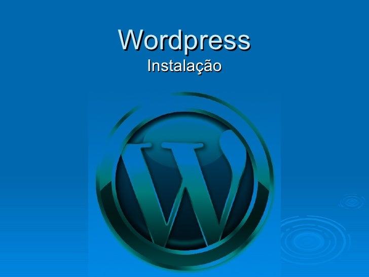 Instalacao Wordpress - Aula 1