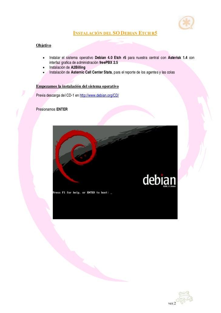 Instalacion Debian + Asterisk + FreePbx + A2Billing