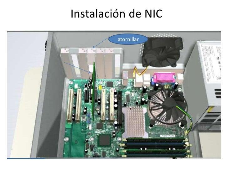 Instalación de NIC<br />atornillar<br />