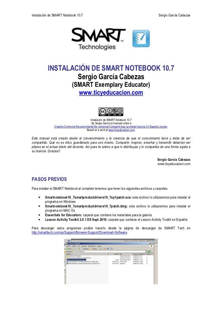 Instalación de smart notebook 10