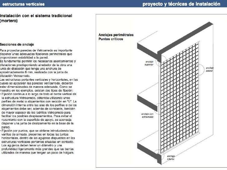 Guía instalación bloques vidrio Seves glassblock
