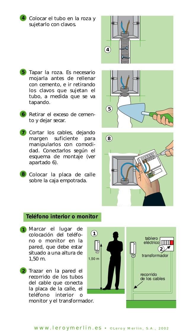Instalacion de porteros electricos y videoporteros for Telefono leroy merlin las rozas