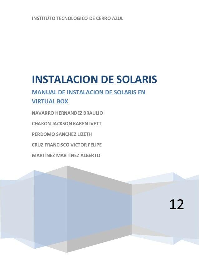 Instalacion de Solris