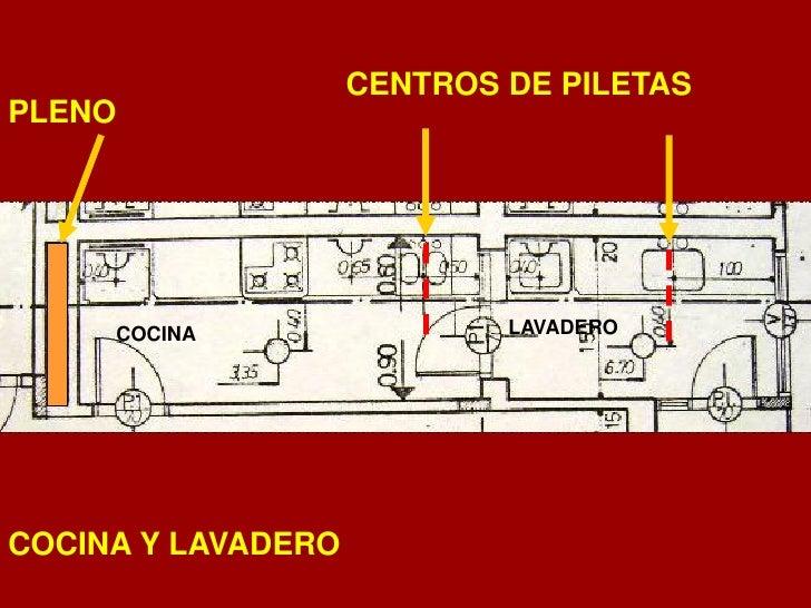 Instalaciones sanitaria y gas 2010 for Planos de cocina con lavadero